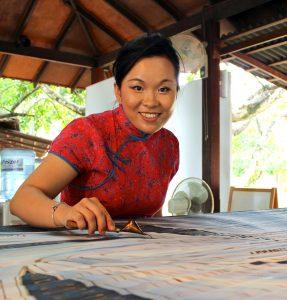 Batik Artist Emilia Tan award photo