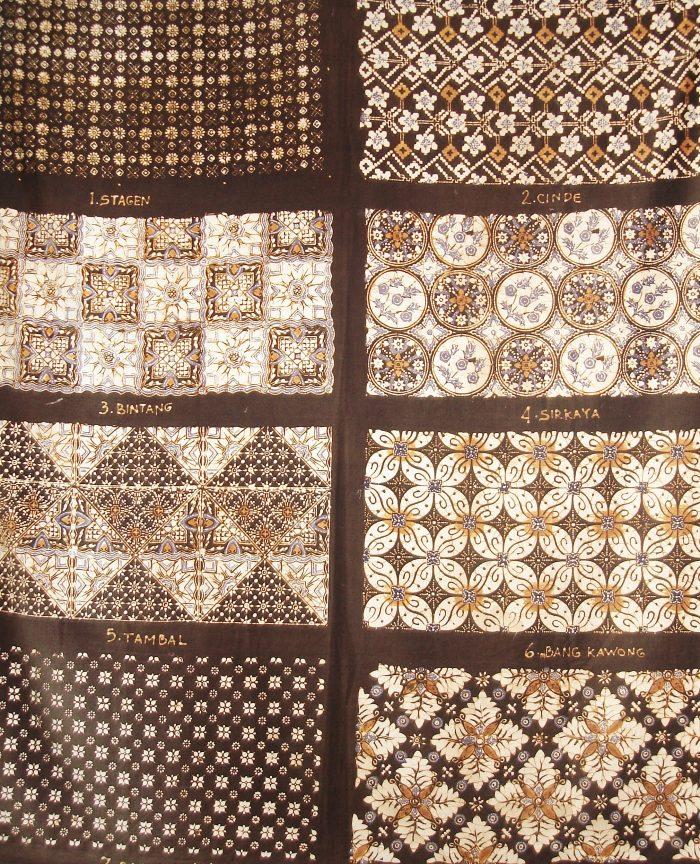 Traditional Indonesia Batik blok print design
